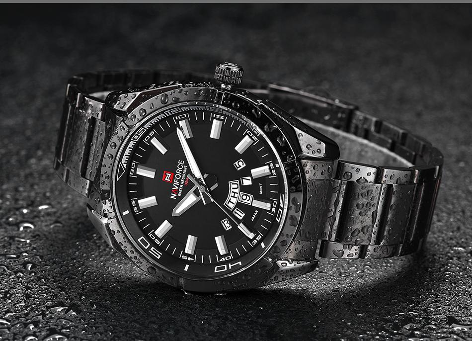 2017 NAVIFORCE Nouveau Top Marque Hommes de Montres Hommes En Acier Plein Imperméable Casual Quartz Date Horloge Mâle montre-Bracelet relogio masculino 14