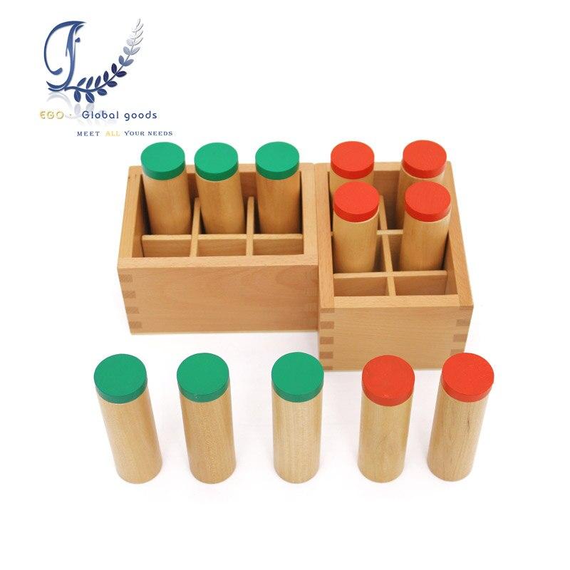 Montessori Sound Boxes Wood Toy Kids Toys Hearing auditory sense Educational Toys  School Kindergarten Teaching Tools<br>