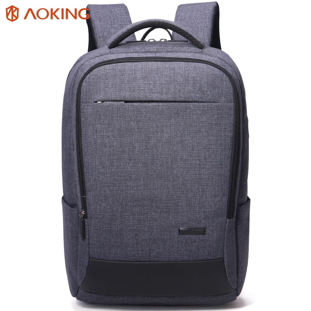 Aoking New Nylon Grey Men Backpack Large Mochila for Laptop 14-15 Inch Notebook Computer Bags Men Backpack School Rucksack<br>