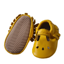 5 pairs New Gold Fringe Genuine Leather Hollow Water Drops Design Baby princess Moccasins Soft Rubber Sole Baby Shoes(China)
