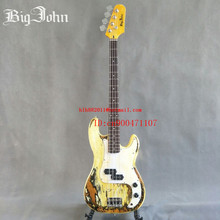 free shipping new Big John handmade vintage style 4 strings electric bass guitar with basswood body F-3382(China)