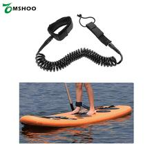 10'/12' Surfboard Leash Surfing Foot Leash Rope Stand Up Paddle Board Surf Leash Coiled Cord Wrist Ankle Safety Swivel Leash(China)