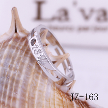 2017 Free shipping jewelry Women silver ring  Valentine's day gifts 1314 ring Female life ring Simple women's lover ring
