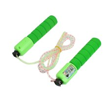 JHO-Exercise Nonslip Grip Counter Jumping Rope Green 2.5M