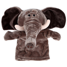 Cute Plush Velour Animals Hand Puppets Chic Designs Kid Child Learning Aid Toy (Elephant)