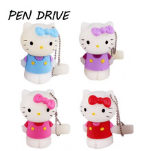 hello kitty usb flash drive 32g cat pen drive 64g pendrive 4gb u disk 8g 16g cartoon u disk flash card pen drive Memory stick