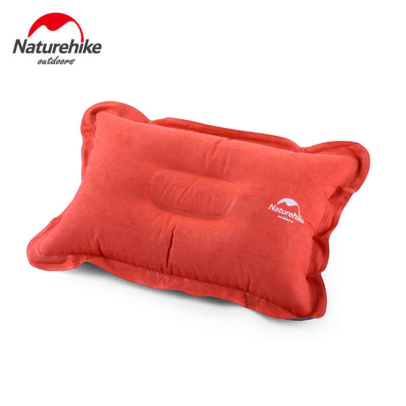 New Travel Outdoor Camping Faux Suede Inflatable Folding Portable Bed Pillow