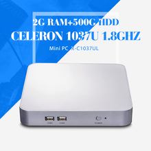 mini computer atx computer case C1037U 2g ram+500g hdd+wifi mini desktop computer hdmi mini pc thin client support hd video