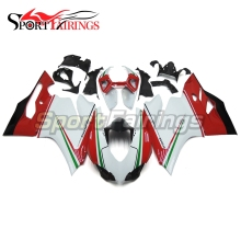 Fairings For Ducati 899 1199 1199s 12 13 2012 2013 Injection ABS Plastics Full Motorcycle Fairing Kit Panigale Tri-colore White