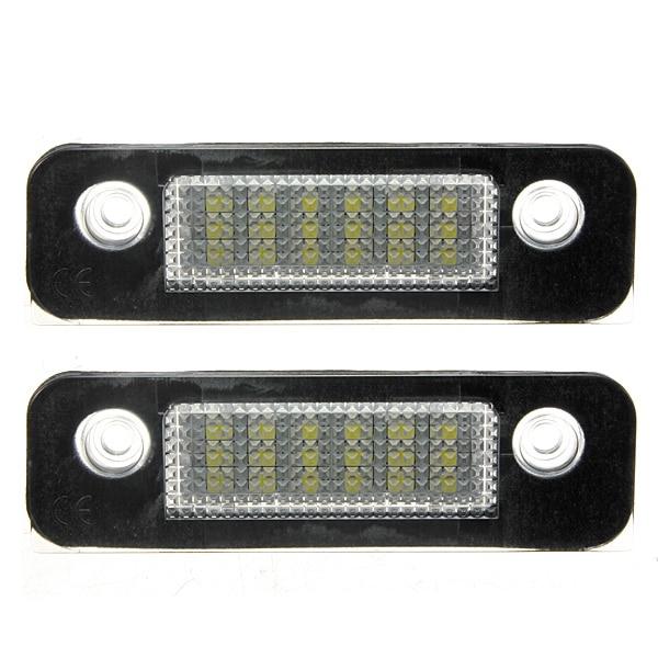 2 Pcs 12V 18 LEDs Bulb License Number Plate Lamps Light For Ford Mondeo MK2 Fusion Error<br><br>Aliexpress