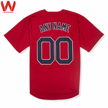 Custom Made Men/Women/Youth High Quality Embroidered Logos&Name&Number Baseball Jerseys Color Red Gray White