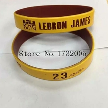 Free Shipping 50 pcs  Popular  Basketball Team  Wristband Silicone Promotion Gift Filled In Color Bracelet  Y-10