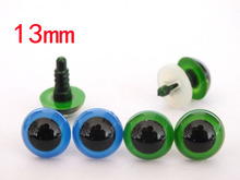 20pairs/lot blue and green color safety toy eyes with white washer-per color 10pairs(China)