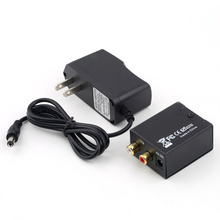 1set Digital Optical Coaxial Toslink to Analog RCA L/R Audio Converter Converts Black DropShipping C1Hot New Arrival