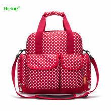 Heine Mommy mother backpack nappy bag baby diaper bags maternity fashion dot Large capacity bag baby care product free shipping(China)