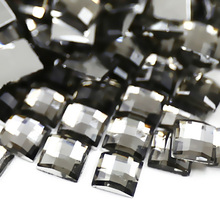 800PCS/LOT 4x4mm Black Diamond Square Rhinestone,Nail Art Crystal Acrylic Non Hotfix Flatback glitters for DIY work accessory