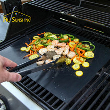 BBQ Grill Mat Pad Sheet Hot Plate Portable Easy Clean Non-stick Bakeware Cooking Tool BBQ Accessories