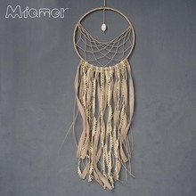 New Fashion Gift India Lace & Stone Dreamcatcher Wind Chimes Indian Style Feather Pendant Dream Catcher Regalo Amor6001