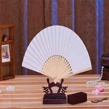 Free shipping,Hot selling 11pcs/lot White Folding Elegant Paper Hand Fan Wedding&Party Favors