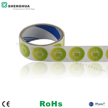 50pcs/pack ISO14443A HF RFID NFC Tag Designed for Mobile Payment 13.56MHz 10CM Reading Range Passive RFID Label for Supermarket