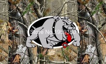 real tree camo Georgia Bulldogs 3ftx5ft 100D Polyester  NCAA Flag  metal Grommets 90x150cm 001