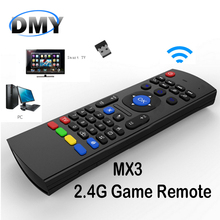 2.4G Remote Control MX3 Air Mouse Wireless Mini Keyboard With IR Learning Mode smart Remote Control Keyboard for Android TV Box(China)