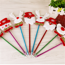 1Pcs Christmas pen For Christmas Holders Santa Claus Holder Bags Home Decor Christmas Tree Party Decor Kids Gift Supplies