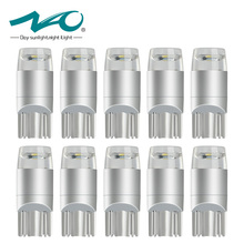 10x W5W LED T10 led Bulb Interior Lamp Car DRL 3030 SMD 194 168 COB Clearance Lights Reading 12V 6000k White Yellow Red New NAO