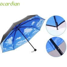 May 26 Mosunx Business Anti UV Sun Protection Umbrella Sky 3 Folding Parasols Rain Umbrella(China)