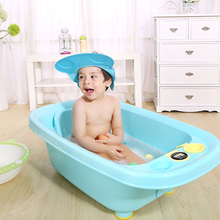 Hot Sale Adjustable Baby Shower Cap Protect, Shampoo Kids Bath Visor Hat, Hair Wash Shield For Children Infant Splashguard(China)