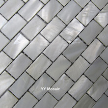 Free Shipping white mother of pearl mosaic tiles brick freshwater shell mosaic, kitchen backsplash tiles, bathroom mosaic tile(China)