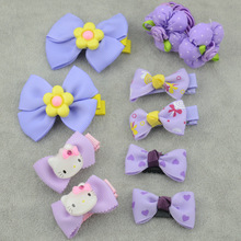 10piece/Lot Hello Kitty Hair Clips Flower Ribbon Bowknot Hairpin By Pairs Dot Bowknot Hairbands Girls Headwear Hair Accessories