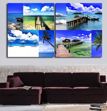 Tropical Ocean Scenery Photography HD Printed Oil Painting Modern Seaside View Canvas Poster Home Living Room Wall Art Deco(China)