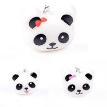 1PCS Beautiful Design Cute 10cm Squishy Charms Buns Cell Phone Charm Kawaii Jumbo Panda Key Bag Straps Pendant(China)