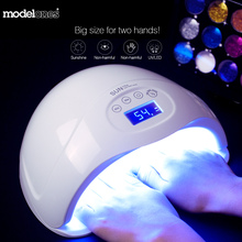 Modelones SUN5 plus 48W Dual UV Led Lamp Nail Dryer For All Types Gel 24Leds UV Lamp Nail Machine 30s/60s/99s Timer LCD Display(China)