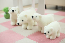 Mini Polar Bear Plush Toys Cute White Bear Dolls Stuffed Cotton Toy