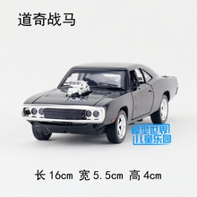 Brand New 1/32 Scale Car Model Toys Fast & Furious 7 Dodge Charger Diecast Metal Sound&Light Pull Back Car Toy For Gift/Kids