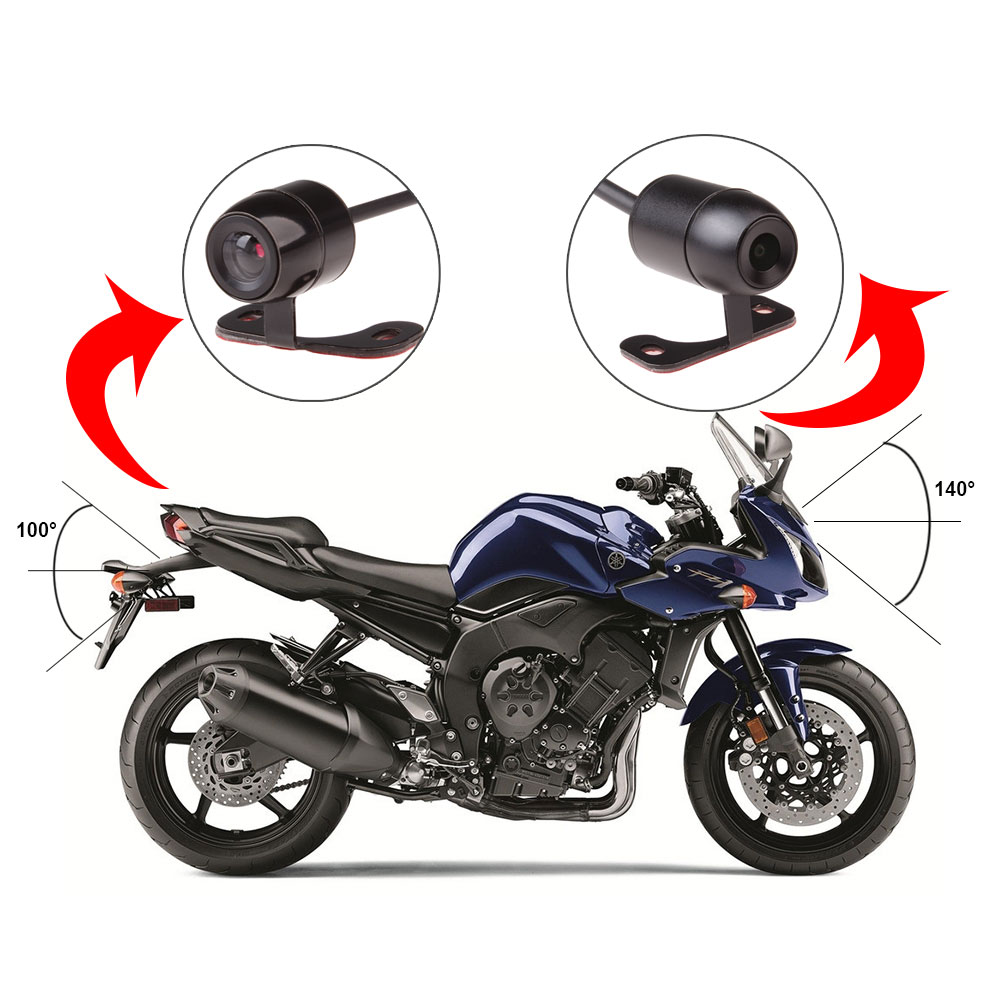 17 latest 1080P motorcycle DVR motorbike video recorder front and rear view dual camera dash cam G-sensor optional gps tracker 7