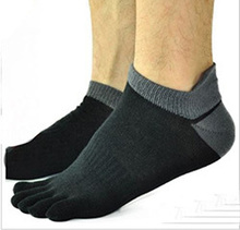 Men Socks Boys Cotton Finger Breathable Five Toe Socks Pure Sock 2016 New(China)