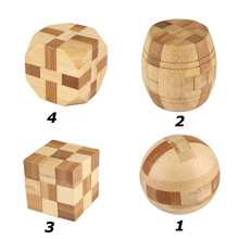Classical Intellectual Bamboo IQ Puzzle Kong Ming/Luban Lock Education