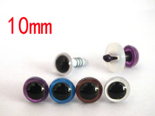 40pairs/lot toy accessories Plastic doll eyes/Colorful safety eyes wholesale/mixed color(China)