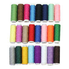 2016 24 Spools/Set Mixed Colors Polyester Sewing Thread Reel Cord String Cones for Sewing Hand Machines Supplies
