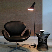 Post-modernDesign Louis Poulsen Arne Jacobsen AJ Floor Lamp Black/White Metal Stand Light for Living Room/Bedroom E27 LED Bulb(China)