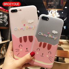 BROEYOUE Case For OPPO R9 R9S R11 R11S Plus 3D Relief Soft Silicone TPU Cell Phone Cute Case Cover For OPPO A57 A39 A59 A59S F1S(China)