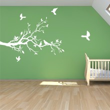 Buy Tree branch Wall Decal Petty Doves Vinyl Mural Stickers Removable Tree Sticker Living Room Kitchen Home Decor zm74 for $14.24 in AliExpress store