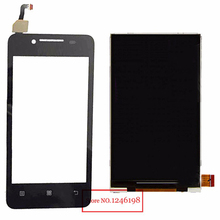 100% Good Working Black Touch Screen Digitizer + LCD Display For Lenovo A319 Mobile Replacement Free shipping + Track number