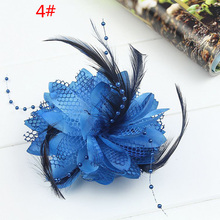 Fabric Flower Hair Clip Beautiful Hair Decor For Women Fashionable Wedding Hair Accessories Bridal Hair Jewelry COCOTINA D02600