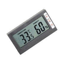 High Quality Digital LCD Indoor/ Outdoor Thermometer Hygrometer Temperature Humidity Meter temp tester with big screen(China)