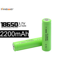 4pcs Kingwei New Brand 3.7v 2200mah 18650 Rechargeable Lithium Battery For Powerbank Flashlight Laser Pen E-book(China)