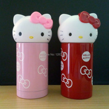 300ml Capacity Stainless steel Thermal bottle Hello Kitty Style Pink/Red Color Kids Stainless Water bottle